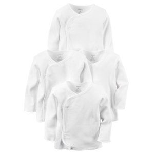 Carter's 4-Pack Kimono Side-Snap Solid White 3 Mon